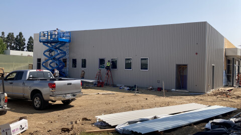 Painting, Restrooms and Basketball Court Progress